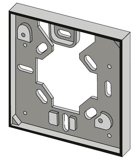Rámeček pod pokojový termostat TP 546