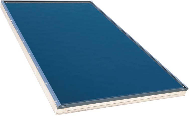 Sluneční kolektor do střechy KPI1, 2,5m2, čiré sklo,2xCu 22