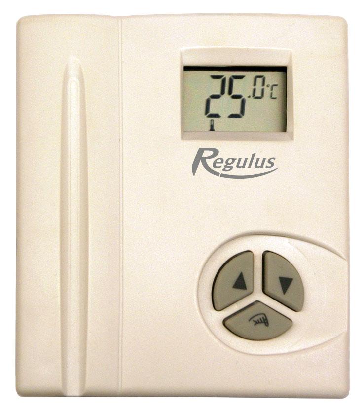 Pokojový termostat TP69 -Regulus,l elektronický s displejem, 230V, tlačítkový