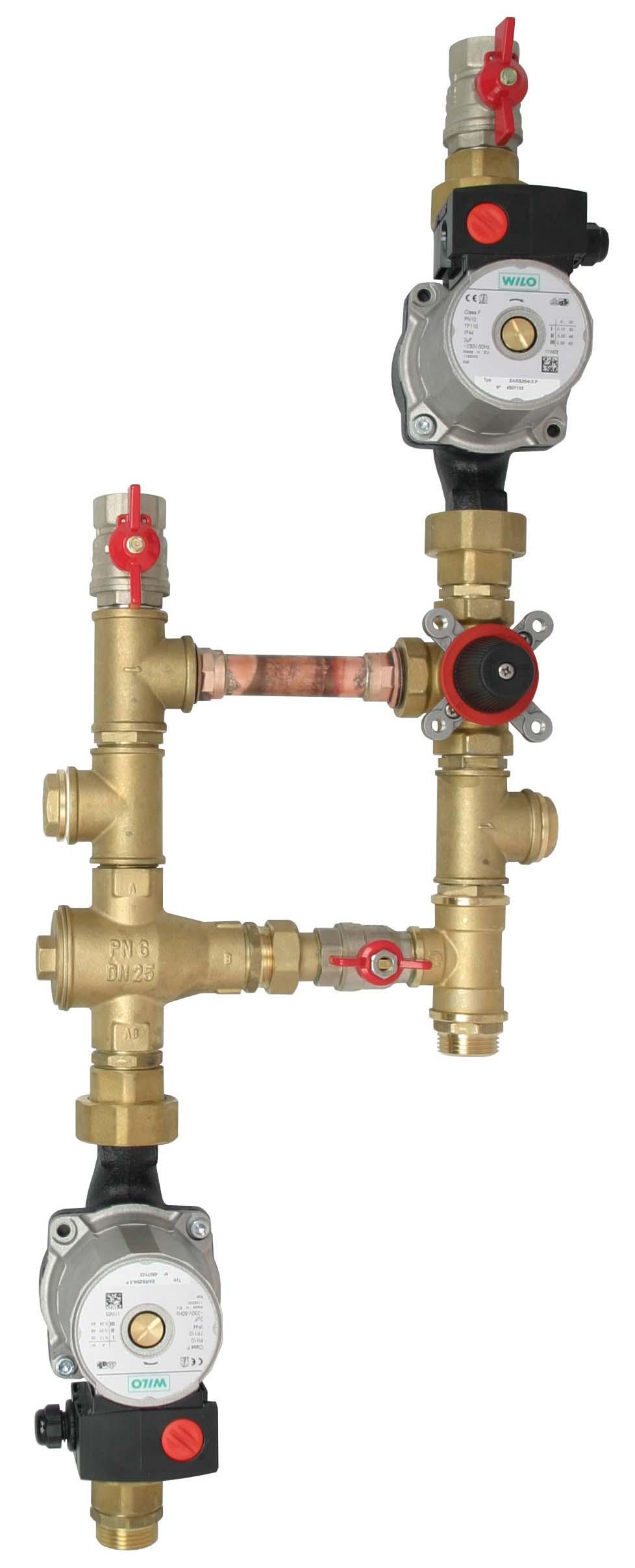Čerpadlová skupina CS TSV MIX 55, pro kotel a topný systém s akum. nád