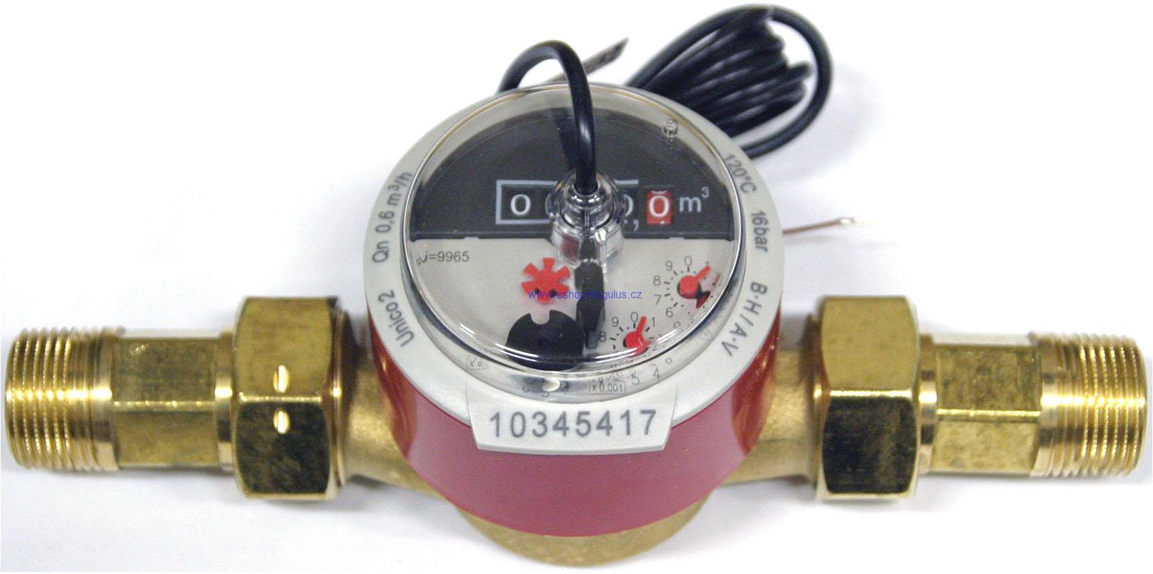 V40-06 - Průtokoměr 12-1200 l/h, DN20 2 tepl.čidla FRP30 a jímky, pro