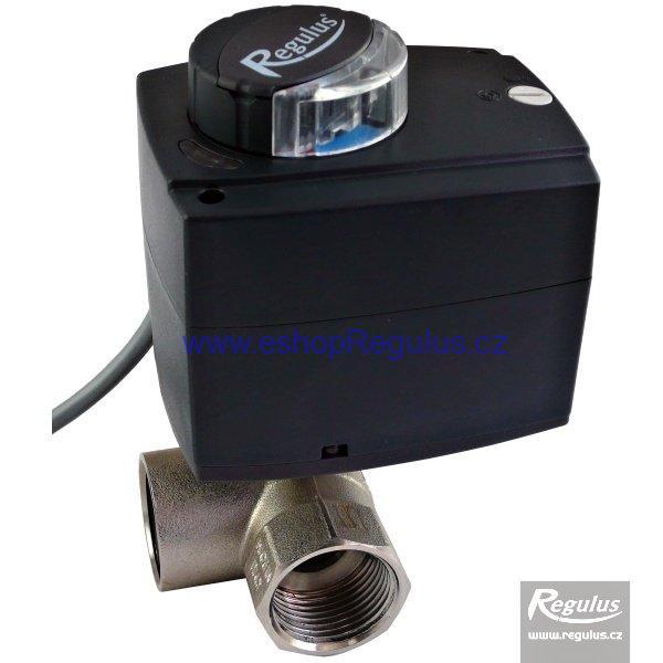 Ventil třícestný kulový VZK 325-230-1P R, 1'' F, DN25, 60s/90°