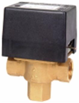 """3-cestný ventil SF25 M1S, 1"""" F, vnitřní závit, pomocný mikrospínač dvoupólový"""