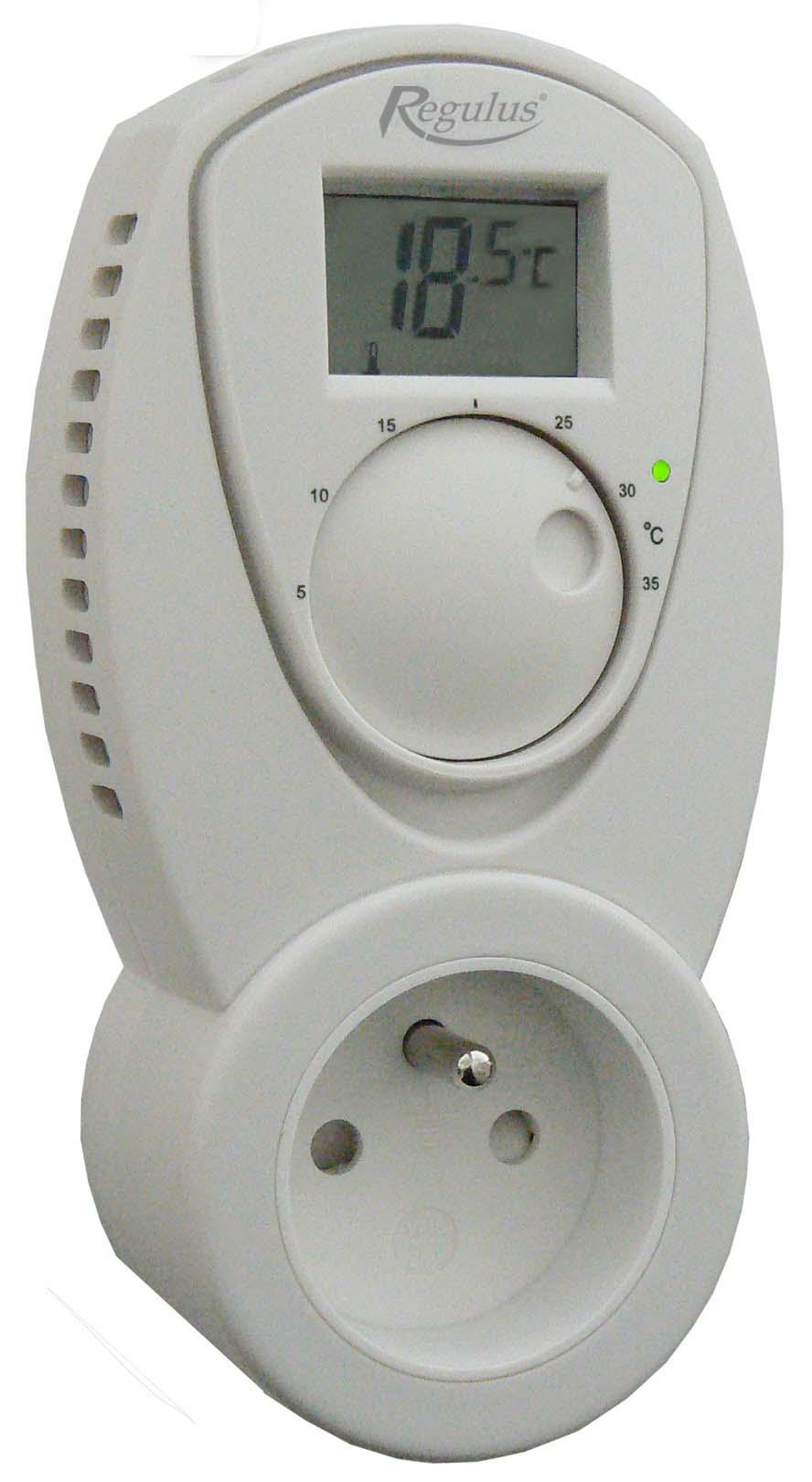 TZ 33 - Regulus Pokojový zásuvkový termostat s LCD displejem (teploměr