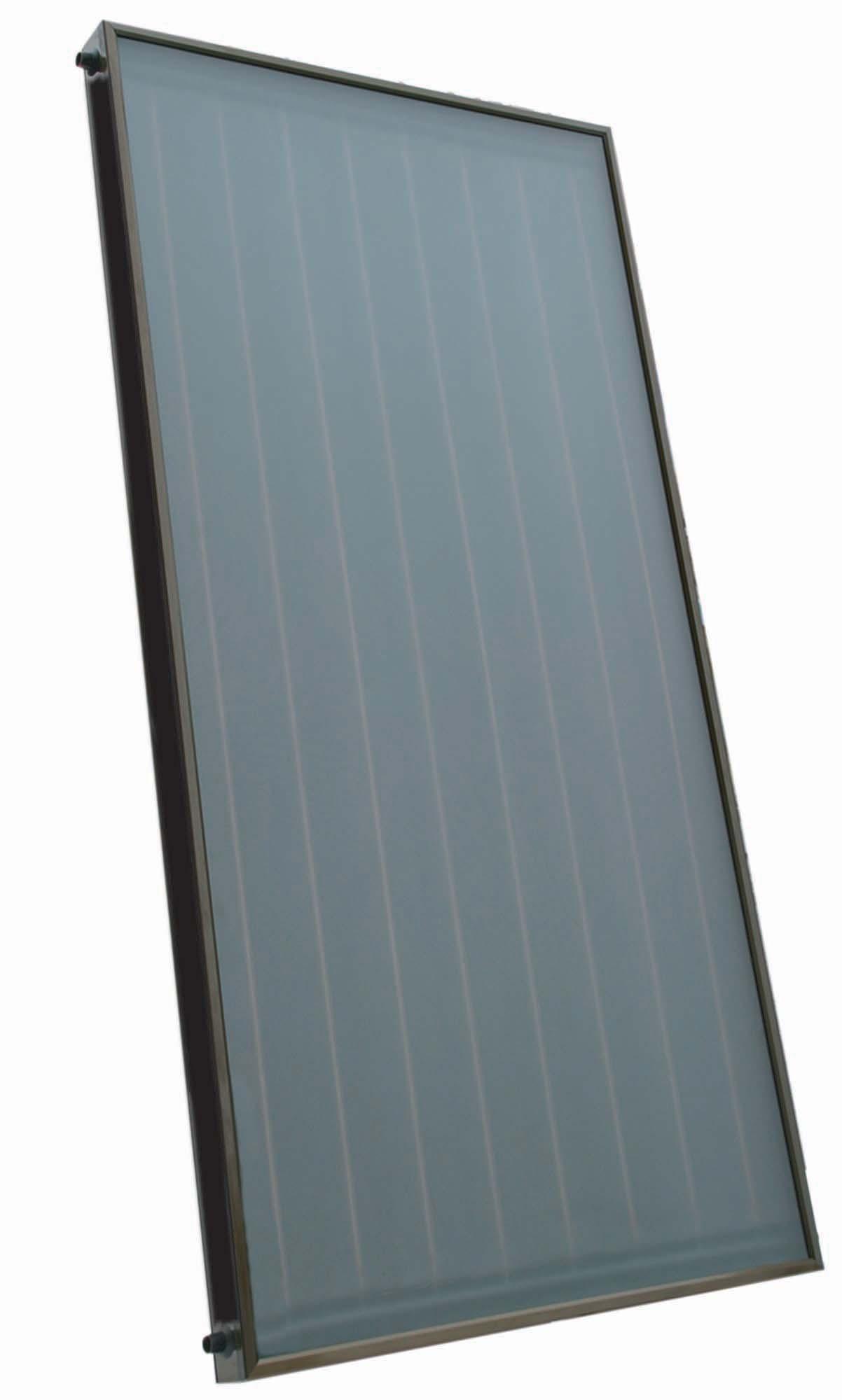 Sluneční kolektor KPC1, prizm.sklo, 100x200x9,5, přip.4x Cu