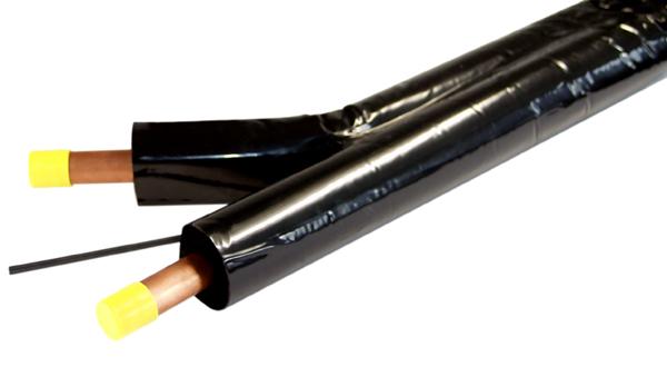 Trubka dvojitá Cu 15x0.8, 15m vč.izolace tl. 14mm a kabelu
