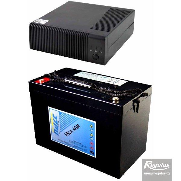 Zdroj záložní PG1000 + akumulátor 100Ah