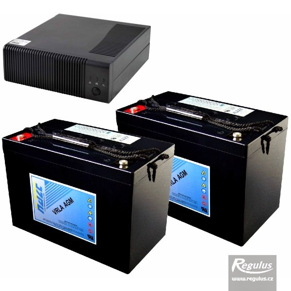Zdroj záložní PG2000 + 2x akumulátor 100Ah