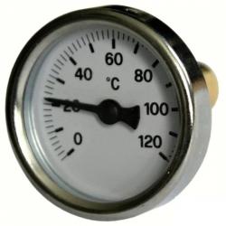 """Teploměr 0-120°C s jímkou (l= 30, 3/8""""), zadní, d=40 mm"""